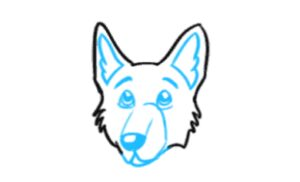 How to Draw a German Shepherd Face Step 4